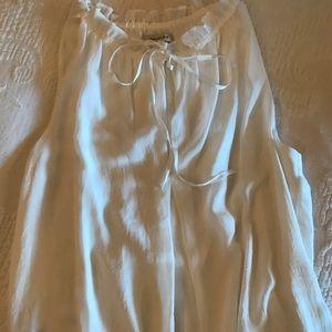 Max studio white sleeveless blouse